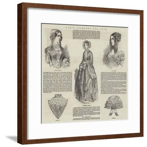 Paris Fashions for June--Framed Art Print