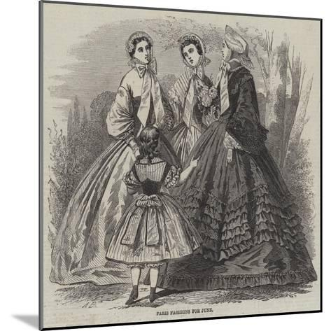 Paris Fashions for June--Mounted Giclee Print