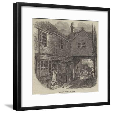 Hudson's House, at York--Framed Art Print