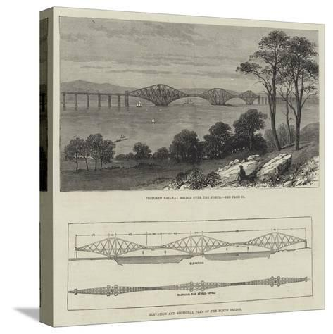 The Forth Bridge--Stretched Canvas Print
