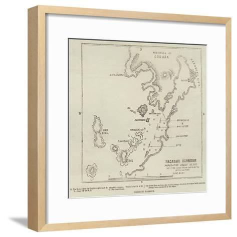 Nagasaki Harbour--Framed Art Print