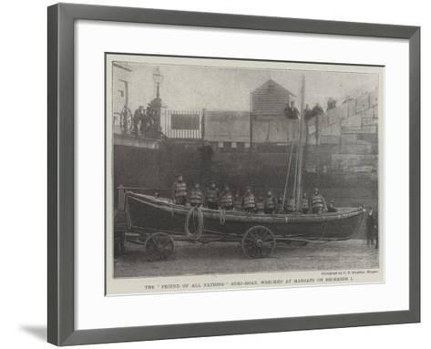 The Friend of All Nations Surf-Boat, Wrecked at Margate on 1 December--Framed Art Print