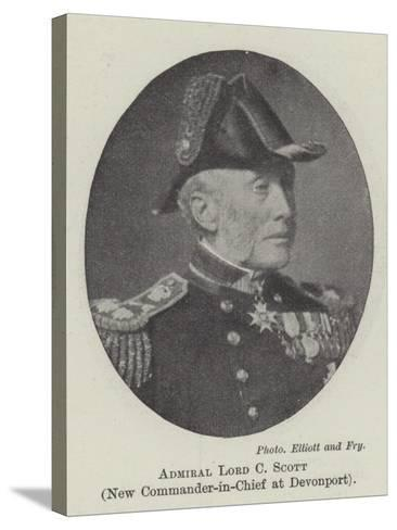 Admiral Lord C Scott, New Commander-In-Chief at Devonport--Stretched Canvas Print