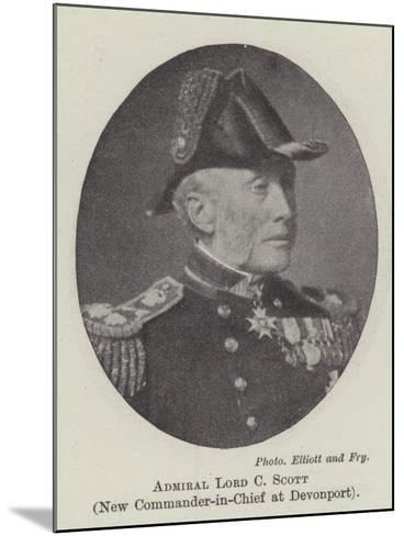 Admiral Lord C Scott, New Commander-In-Chief at Devonport--Mounted Giclee Print
