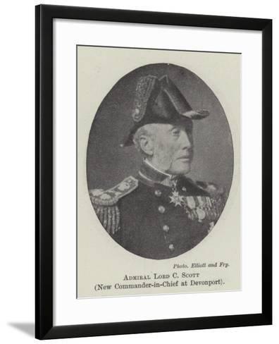 Admiral Lord C Scott, New Commander-In-Chief at Devonport--Framed Art Print