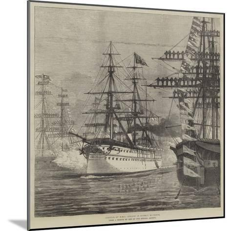 Arrival of HMS Serapis in Bombay Harbour--Mounted Giclee Print