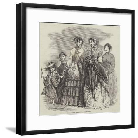 Paris Fashions for September--Framed Art Print