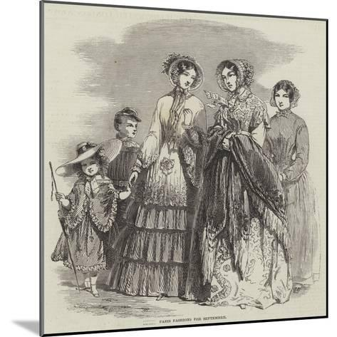 Paris Fashions for September--Mounted Giclee Print