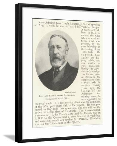 The Late Rear-Admiral Bainbridge, Distinguished Naval Officer--Framed Art Print