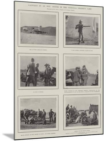 Captured by De Wet, Scenes in the Guerilla Leader's Camp--Mounted Giclee Print