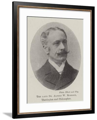 The Late Dr Alfred W Momerie, Theologian and Philosopher--Framed Art Print