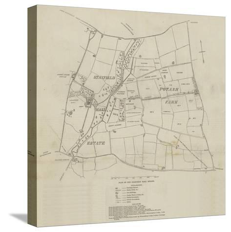 Plan of the Stanfield Hall Estate--Stretched Canvas Print