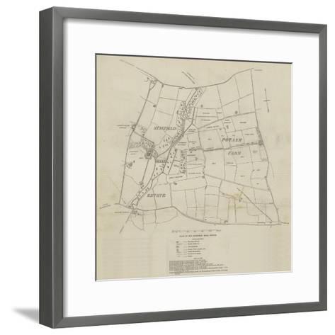 Plan of the Stanfield Hall Estate--Framed Art Print