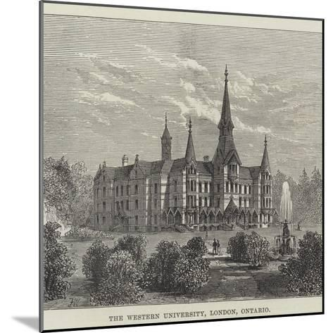 The Western University, London, Ontario--Mounted Giclee Print