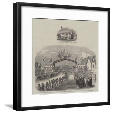 Royal Visit to Canada--Framed Art Print