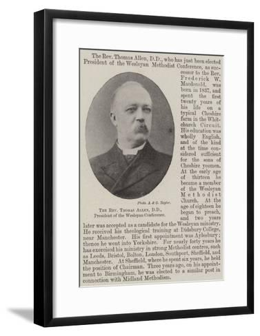 The Reverend Thomas Allen, Dd, President of the Wesleyan Conference--Framed Art Print