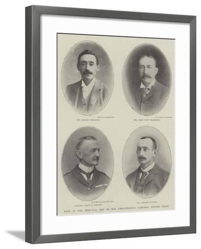Four of the Principal Men of the Johannesburg National Reform Union--Framed Art Print