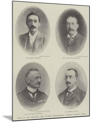 Four of the Principal Men of the Johannesburg National Reform Union--Mounted Giclee Print