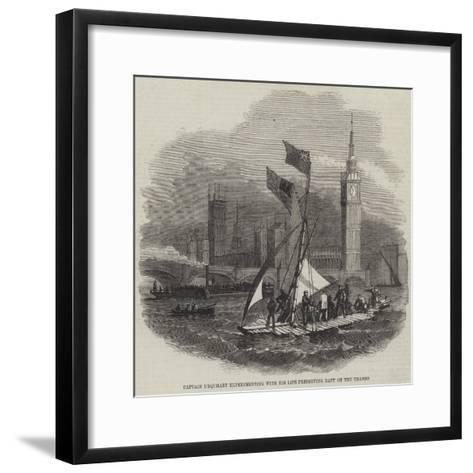 Captain Urquhart's Life-Preserving Raft--Framed Art Print