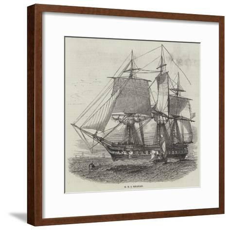 HMS Maeander--Framed Art Print