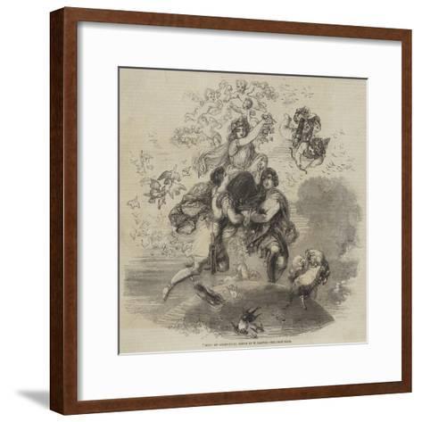 May, an Allegorical Design by W Harvey--Framed Art Print