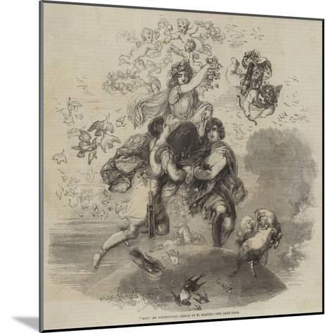 May, an Allegorical Design by W Harvey--Mounted Giclee Print