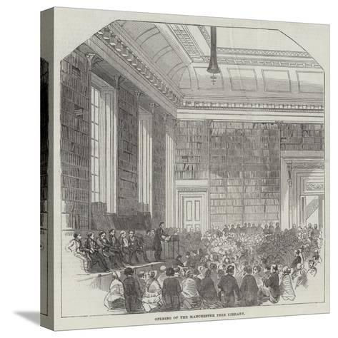 Opening of the Manchester Free Library--Stretched Canvas Print