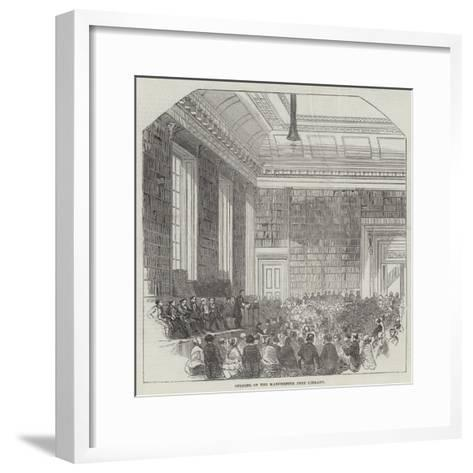 Opening of the Manchester Free Library--Framed Art Print