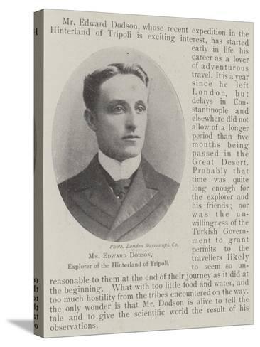 Mr Edward Dodson, Explorer of the Hinterland of Tripoli--Stretched Canvas Print