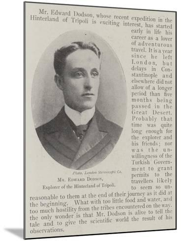 Mr Edward Dodson, Explorer of the Hinterland of Tripoli--Mounted Giclee Print