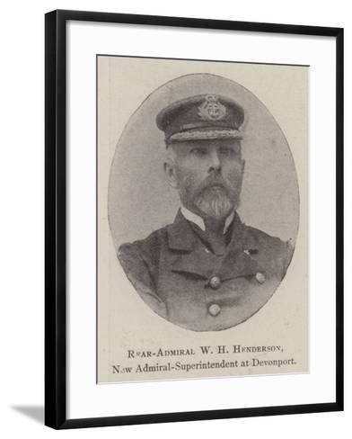 Rear-Admiral W H Henderson, New Admiral-Superintendent at Devonport--Framed Art Print