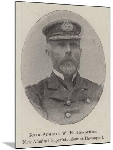 Rear-Admiral W H Henderson, New Admiral-Superintendent at Devonport--Mounted Giclee Print