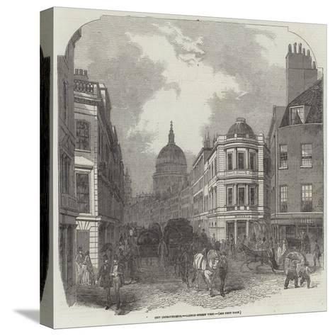 City Improvements, Cannon-Street West--Stretched Canvas Print