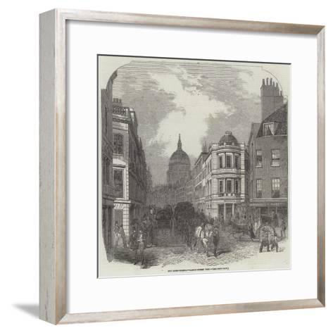 City Improvements, Cannon-Street West--Framed Art Print