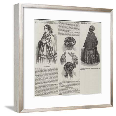 Paris Fashions for February--Framed Art Print