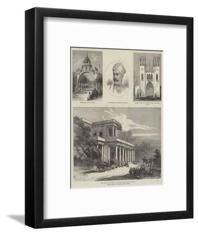 Royal Visit to India--Framed Art Print