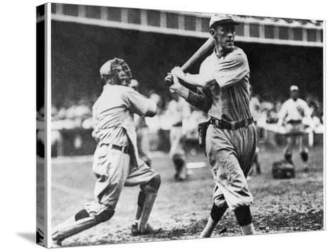 Johnny Evers of the Chicago Cubs in Action During 1906--Stretched Canvas Print