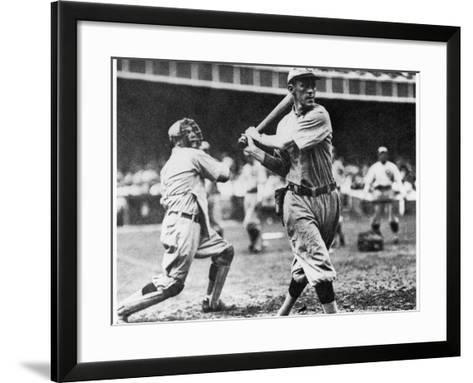 Johnny Evers of the Chicago Cubs in Action During 1906--Framed Art Print