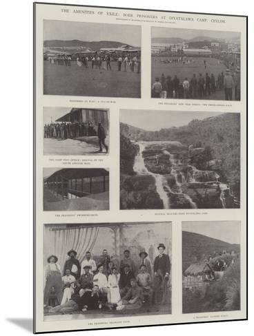 The Amenities of Exile, Boer Prisoners at Diyatalawa Camp, Ceylon--Mounted Giclee Print