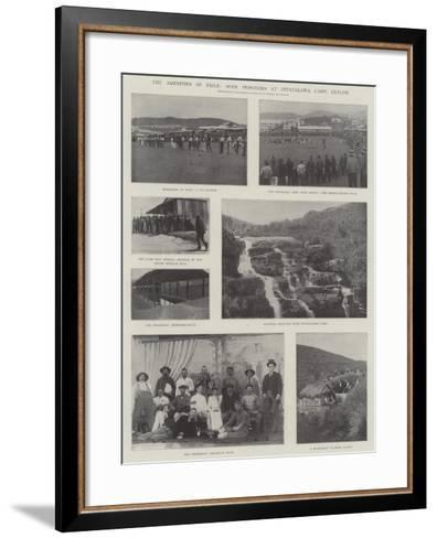 The Amenities of Exile, Boer Prisoners at Diyatalawa Camp, Ceylon--Framed Art Print