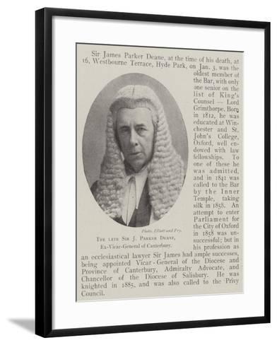 The Late Sir J Parker Deane, Ex-Vicar-General of Canterbury--Framed Art Print