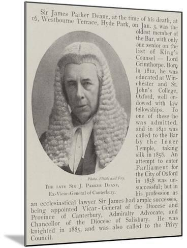 The Late Sir J Parker Deane, Ex-Vicar-General of Canterbury--Mounted Giclee Print