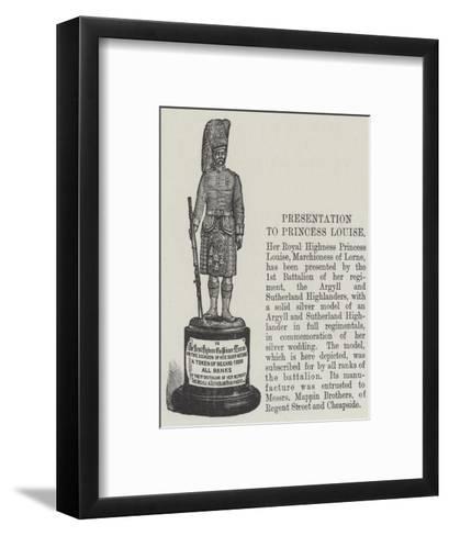 Presentation to Princess Louise--Framed Art Print
