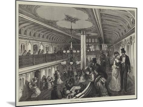 American Sketches, Saloon of a Steam-Boat--Mounted Giclee Print