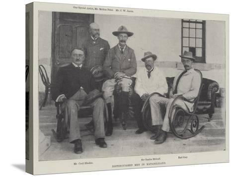 Distinguished Men in Matabililand--Stretched Canvas Print