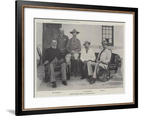 Distinguished Men in Matabililand--Framed Art Print