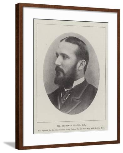 Mr Henniker Heaton--Framed Art Print