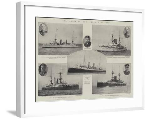 Our Admirals and their Flag-Ships--Framed Art Print