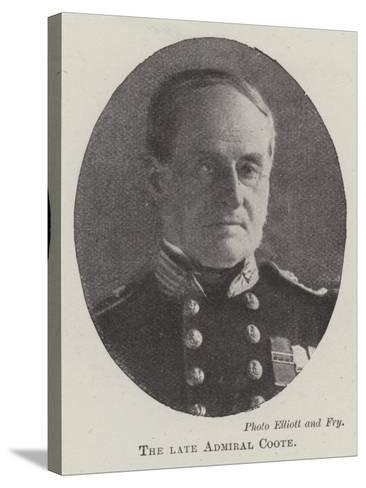 The Late Admiral Coote--Stretched Canvas Print