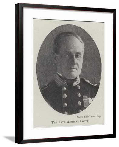 The Late Admiral Coote--Framed Art Print